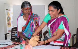 Two Nepalese Women at Workshop
