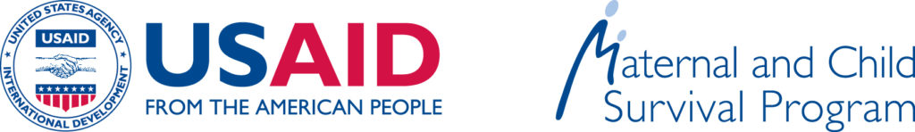 USAID and Maternal and Child Survival Program logos