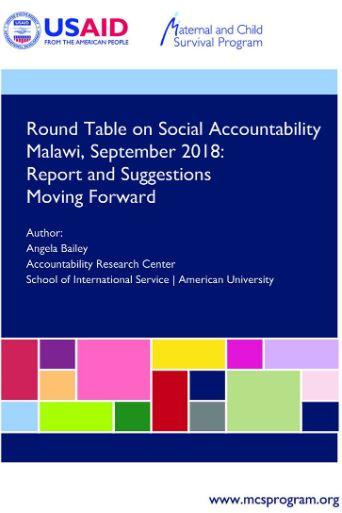 Roundtable SocAcc Malawi